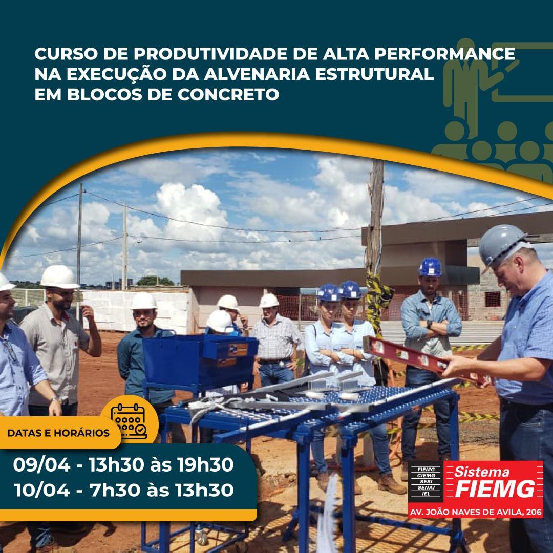 Curso de Produtividade de Alta Performance na Execução da Alvenaria Estrutural em Blocos de Concreto