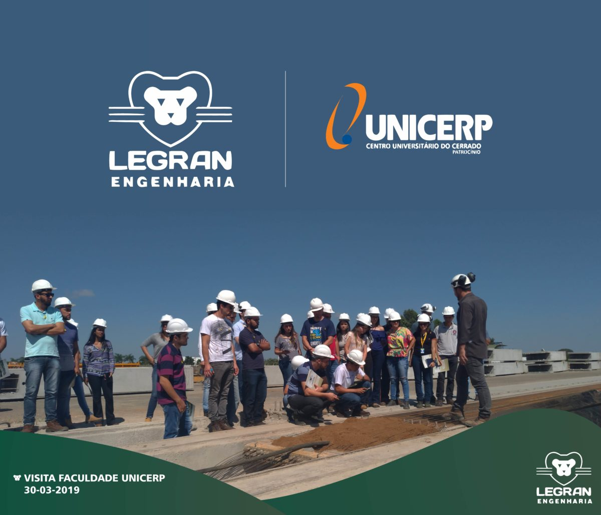 Visita dos alunos de engenharia da faculdade UNICERP de Patrocínio.